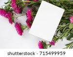 card mockup with flowers.... | Shutterstock . vector #715499959