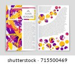 abstract vector layout... | Shutterstock .eps vector #715500469