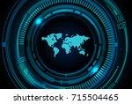 binary circuit future... | Shutterstock .eps vector #715504465