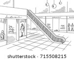 shopping mall graphic black... | Shutterstock .eps vector #715508215