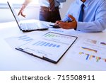 two business man people working ... | Shutterstock . vector #715508911