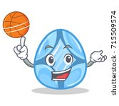playing basketball diamond... | Shutterstock .eps vector #715509574