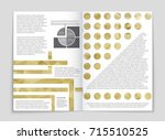 abstract vector layout... | Shutterstock .eps vector #715510525