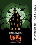 halloween hand drawn greeting... | Shutterstock .eps vector #715524331