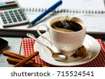 coffee in a composition with...   Shutterstock . vector #715524541