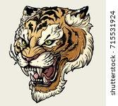 tiger anger. vector...   Shutterstock .eps vector #715531924