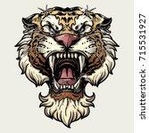 tiger anger. vector... | Shutterstock .eps vector #715531927