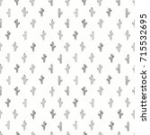 cactus seamless pattern.cute... | Shutterstock .eps vector #715532695