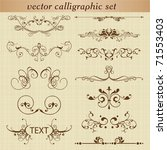 vector set  calligraphic design ... | Shutterstock .eps vector #71553403