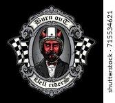 The Devil Of Biker In T Shirt...