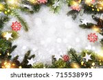 holiday christmas background... | Shutterstock . vector #715538995