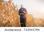 Young Farmer Examine Corn Seed...