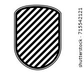 rounded shield in monochrome... | Shutterstock .eps vector #715542121