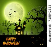 vector illustration of scary... | Shutterstock .eps vector #715542835