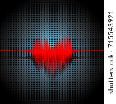 sound signal in heart shaped... | Shutterstock .eps vector #715543921