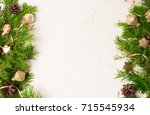 christmas or new year... | Shutterstock . vector #715545934