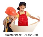 Two Little Builders With Liqui...