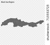 high quality map of black sea... | Shutterstock .eps vector #715553725