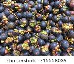 fresh mangosteen. | Shutterstock . vector #715558039