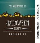 halloween design poster... | Shutterstock .eps vector #715558075