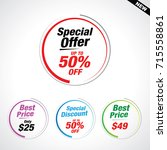 sale and special offer banner ... | Shutterstock .eps vector #715558861