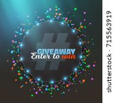 illustration of giveaway button.... | Shutterstock . vector #715563919
