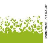 vector green vegetation on a... | Shutterstock .eps vector #715566289