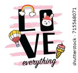 cute t shirt design with patches | Shutterstock .eps vector #715568071