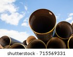 Stack Of New Metal Pipes....