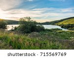view of lake guery. lake guery... | Shutterstock . vector #715569769