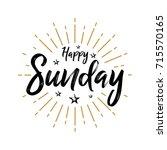 happy sunday   fireworks  ... | Shutterstock .eps vector #715570165