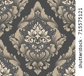 vector damask seamless pattern... | Shutterstock .eps vector #715575121