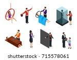 isometric magic performance...   Shutterstock .eps vector #715578061