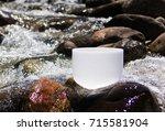 crystal singing bowls for... | Shutterstock . vector #715581904