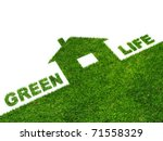 image clean green house.... | Shutterstock . vector #71558329