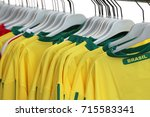 Small photo of Many Yellow T-Shirt with text Brasil for sale in the shop