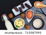 food concept bakery preparation ... | Shutterstock . vector #715587595