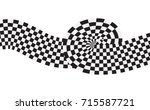 checkered racing flag isolated... | Shutterstock .eps vector #715587721