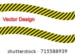 line yellow and black color.... | Shutterstock .eps vector #715588939