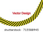 line yellow and black color.... | Shutterstock .eps vector #715588945