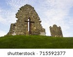 Small photo of 13 September 2017 The old ruins of the original St Aidan's Church at Bellerina in County Londonderry in Northern Ireland