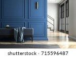 interior classic contemporary... | Shutterstock . vector #715596487