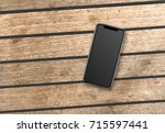 smartphone on boards mockup | Shutterstock . vector #715597441
