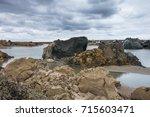 giant crater of unknown origin... | Shutterstock . vector #715603471