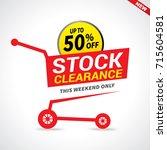 stock clearance cart  stock...   Shutterstock .eps vector #715604581