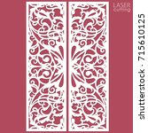 laser cut ornamental panels... | Shutterstock .eps vector #715610125