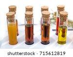 oil specimen liquid test tube... | Shutterstock . vector #715612819