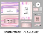 set of seasonal clearance... | Shutterstock .eps vector #715616989