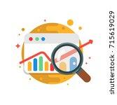 business analytics.vector... | Shutterstock .eps vector #715619029