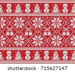 christmas and new year design.... | Shutterstock .eps vector #715627147
